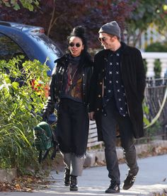 2jam4u:  notxwelcome:  daily—celebs:  11/3/14-Robert Pattinson + FKA Twigs out in Toronto.   I'm offended they were strolling around my city looking 7 shades of adorable