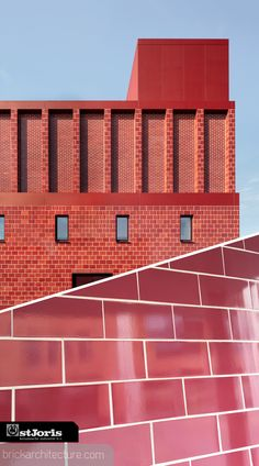 The bricks were made by St. Joris.  Photos by: Karin Borghouts  #brick #brickbybrick #brickarchitecture #architecture #bricks #brickfacade #brickarchitecture #instagram #followforfollow #bricks #bricklaying #architecture #architecturelovers #architectureprojects #projects #arch #architecture #baksteen #bakstenenarchitectuur #backstein #ladrillo #ladrillo #Arquitectura #architettura #mattone #tiili #tiiliarkkitehtuuri #architecturedebrique #brique #Belgium Brick Laying, Arch Architecture, Brick Facade, Belgium, Tower, Construction, Fire, Projects, Photos