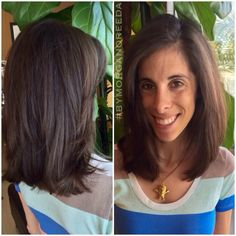 Shoulder length hair, LOB, long bob, haircut, blowout bymorganoreeda at Cielo Salon in Medford Oregon