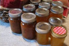 7 pts of salsa and 3 1/2 pts of orange jelly. Not to bad for a mornings work.