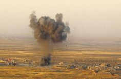 October 21, 2016 ZOHRA BENSEMRA/REUTERS Islamic State positions in Nawaran, Iraq, were attacked by Kurdish troops. ISIS responded with mines and suicide car bombs.