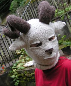 OHHH my, this is pretty close to creepy, but I HAD to add these costume ideas! baalaclava-sheep-head