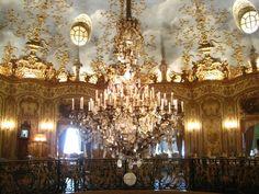 "The interior of the restaurant ""Turandot"" on Tverskaya Boulevard, Moscow."