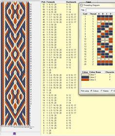 20 tarjetas, 3 colores ... otro enhebrado, repite cada 36 movimientos // sed_66a ༺❁