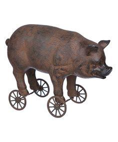 GANZ Wheeled Pig Figurine | zulily