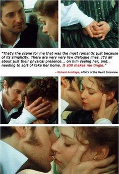 Most romantic scene according to Richard Armitage Romantic Scenes, Most Romantic, Hopeless Romantic, Jane Austen, Severus Hermione, Bbc, Elizabeth Gaskell, John Thornton, Look Back At Me
