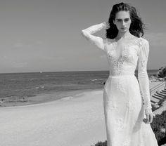 Michal Medina wedding dress. Wonderful luxurious fabrics and sensual feminine designs