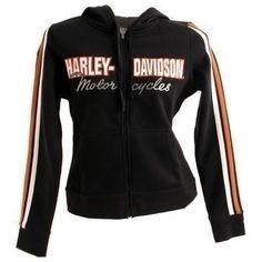 harley davidson clothing for women | ... with Sleeve Stripe - Black - Harley Davidson Womens, 99059-07VW/000L