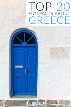 Awesome collection of 20 Greece facts you most likely didn't know. Front Door Images, Door Picture, Athens Greece, Mykonos Greece, Crete Greece, Venice Travel, Amazing Destinations, Travel Destinations, Greece Destinations