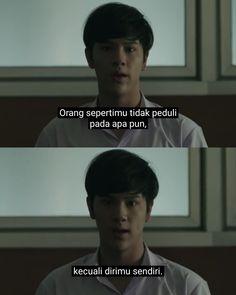 Drama Quotes, Film Quotes, Mood Quotes, Quotes Galau, Reminder Quotes, Quotes Indonesia, Thai Drama, Wallpaper Quotes, Puns