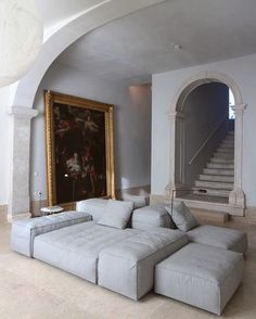 Hotel Santa Clara, 1728 by architect Manuel Aires Mateus. Interior Architecture, Interior And Exterior, Living Room Decor, Living Spaces, French Living Rooms, Santa Clara, Interior Design Inspiration, Style Inspiration, Furniture Design