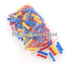 3Color 100Pcs Assortment Wire Butt Cable Insulated Electrical Terminal Connector     Be the first to write a review.BV BV1/2/5