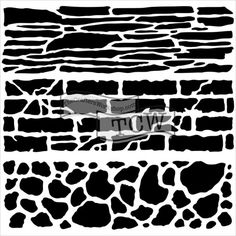 Crafters Workshop Mini 6x6 Template Rock Wall