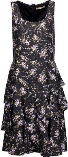 Michael Kors Collection Elderflower floral-print silk-twill dress