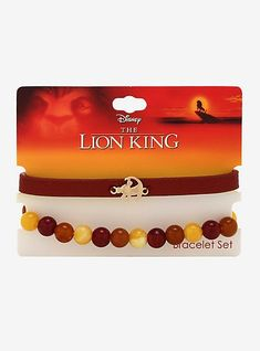 Disney The Lion King Bracelet SetDisney The Lion King Bracelet Set, Fabric Bracelets, Beaded Bracelets, Lion King Pride Rock, Harry Potter Earrings, Baby Simba, Tapers And Plugs, Hanging Necklaces, Disney Lion King, Lilo And Stitch