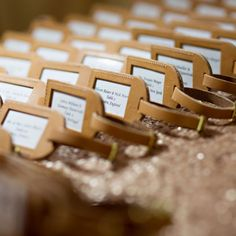 This couple loves to travel the world together, so they chose a travel wedding theme. They used personalized luggage tags from Curry's Leather Products as their escort cards/favors.