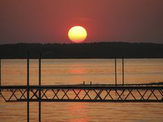 metal pier sunset 2 by Barbara A. White, via Flickr