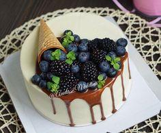 Blueberry Spill Cake