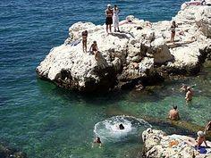 ISTRIA   Beach Monte - Old town   Beaches in Rovinj   Kusten en stranden   Attracties en activiteiten