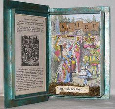 Alice in Wonderland Box - inside by chaoticartworks, me. Also featured in Somerset Studio Magazine. #altered #Alice #Wonderland