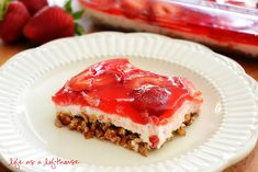 The first time I tried this dessert I fell head over heels in love. My sis-in-law made it for a dutch oven cookout we had over Easter weekend. It was sooo good! It's a cheesecake-like filling over a salty-sweet pretzel crust, topped off with fresh strawberries andjello. This salad screams summer! (I'm still …