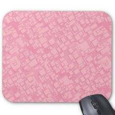 Pink rectangle pattern mouse pad $12.10