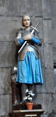 Statue de Jeanne d'Arc, Église Saint-Maurice (Besançon)