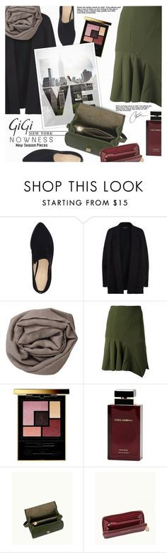 """""""Fall Style With GiGi New York"""" by anna-anica ❤ liked on Polyvore featuring Nine West, GiGi New York, Eileen Fisher, Brunello Cucinelli, Christopher Esber, Yves Saint Laurent, Dolce&Gabbana, Fall, outfit and bag"""