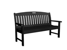 "Polywood NB60BL Nautical 60"" Bench in Black"