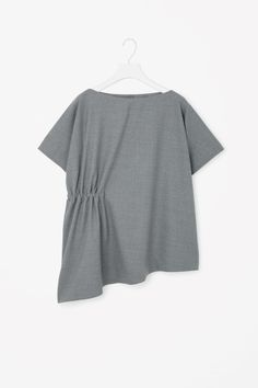 COS image 4 of Top with gathered side in Grey