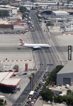 Weird but real runway at Gibraltar Airport in Europe..  #JayaVerdict #AllNewJazz #DawoodIbrahim #StaySmart