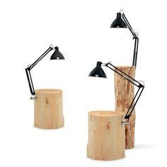 petite table de chevet ou d'appoint en bois massif Piantama Design Mercantonio Raimondi Malerba par Mogg - La Verriere