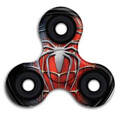 Cheap price BROOKE LEWIS Fidget Spinner Spider Man Tri-Spinner Ultra Durable Hand Toy For Kids Adults Perfect For Giving Up Smoking Killing Time Autism OCD on sale