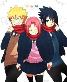 sasuke & naruto & sakura