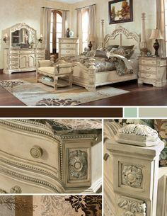 The Ortanique Sleigh Bedroom Set From Ashley Furniture Homestore