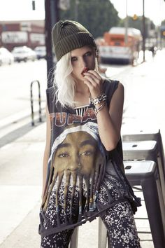 Furst of a Kind vintage graphic tee polished with studded cuff