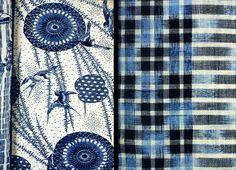 Japanese indigo textiles.