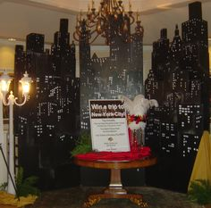 Perfect backdrops in any room for a New York themed party. O'Brien Productions 770-422-7200