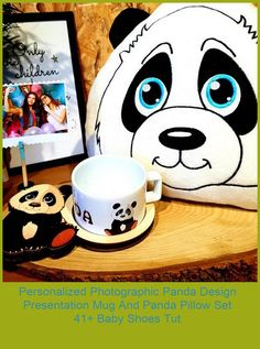 The panda pillow is made of fleece fabric. It is sent with fiber filling. The panda pillow is 35 cm x 33 cm in size. The presentation plate is made of poplar wood. It has a high print quality and vibrant color tones. The 16 cm 10 cm mug is made of first-class porcelain material. Hand washing is recommended for the life of the print quality. It is sent to you in a protected form.#birthday #forgirlfriend #panda baby shoes tutorial Personalized Photographic Panda Design Presentation Mug A