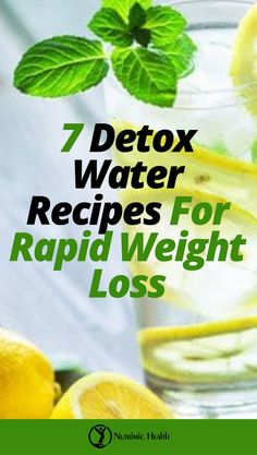 7 Detox Water Recipes For Rapid Weight Loss. Take a cue from some of these awesome detox water recipes, and you will learn how to add your own ingredients with time. Detox Kur, Cleanse Detox, Juice Cleanse, Diet Detox, Smoothie Detox, Body Cleanse, Cucumber Detox Water, Mint Detox Water, Digestive Detox