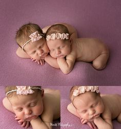 Newborn girl twins posed together.Photographed by Ankeny / Des moines Iowa Newborn Photographer, Moretti Photography