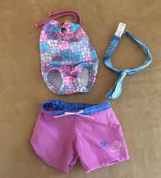 Kanani Beach outfit American Girl doll clothing retired shorts bathing suit tie #AmericanGirl #ClothingShoes