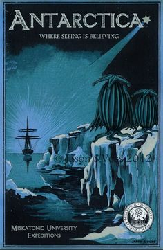 'Antarctic Expedition' Photographic Print by aglastudio Lovecraft Cthulhu, Hp Lovecraft, Gothic Horror, Horror Art, Yog Sothoth, Mountains Of Madness, Call Of Cthulhu Rpg, Lovecraftian Horror, Eldritch Horror