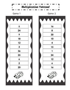 Free math game reviewing multiplication facts