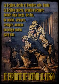 Credo Legionario Military Quotes, War, Movie Posters, Spanish, Cartoons, Hacks, Military Pictures, Military Women, Special Forces