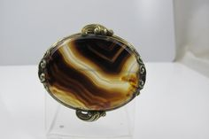 Victorian Scottish Agate Brooch Pin Ornate Fine Antique Jewelry Victorian Jewellery Banded Agate Jewelry