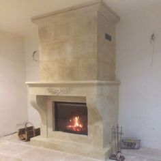 general view of a provence traditional fireplace - created by Alain Bidal Vaucluse
