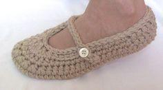 Crochet Slippers, Crochet Slippers PATTERN, Ladies Slippers, Crochet Shoes…