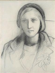 Marie-Thérèse coiffée d'un béret, 1927 Pablo Picasso ✖️Fosterginger.Pinterest.Com.✖️More Pins Like This One At FOSTERGINGER @ Pinterest ✖️No Pin Limits✖️