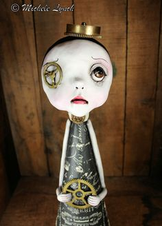 by michele lynch Steampunk Dolls, Steampunk Fashion, Types Of Planning, Soul Art, Pop Surrealism, Kawaii Wallpaper, Christmas Tree Toppers, Clay Creations, Clay Art